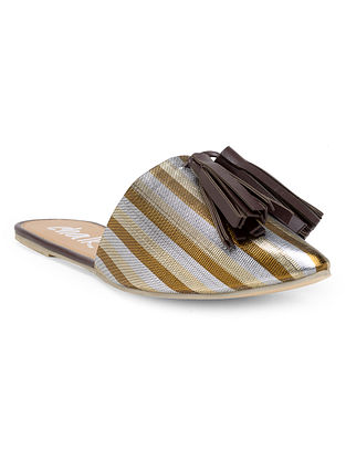Silver Brown Handcrafted Mules