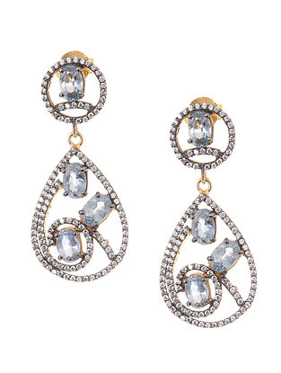 Blue Sapphire Gold-plated Silver Earrings