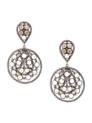 Moonstone Gold-plated Silver Earrings
