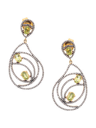 Peridot Gold-plated Silver Earrings