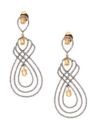 Citrine Gold-plated Silver Earrings