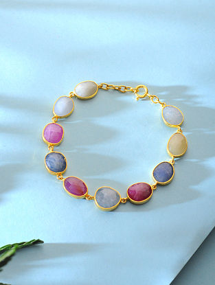 Sapphire Gold-plated Silver Bracelet
