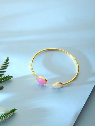 Sapphire Gold-plated Silver Cuff