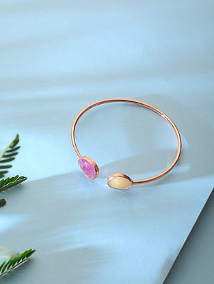 Sapphire Rose Gold-plated Silver Cuff