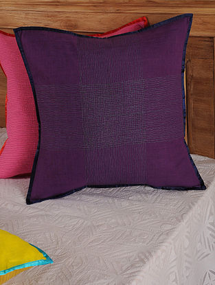 Hand Spun & Hand Woven Cross in Purple Cushion Cover 19in x 19in