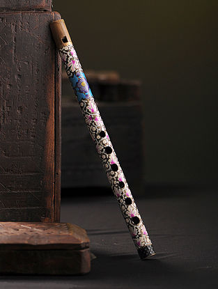 Multicolored Hand-painted Paper Mache Basuri (13in x 0.6in)