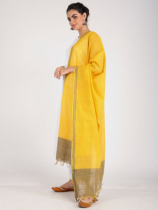 Yellow Handloom Cotton Dupatta