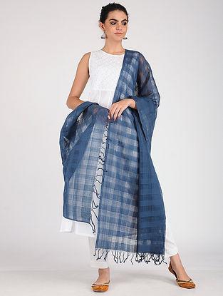 Indigo Handloom Cotton Dupatta