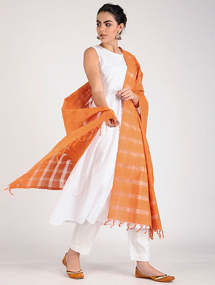 Orange Handloom Cotton Dupatta