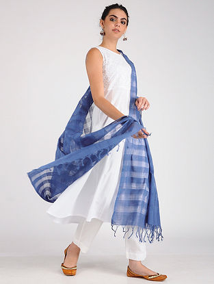 Blue Handloom Cotton Dupatta