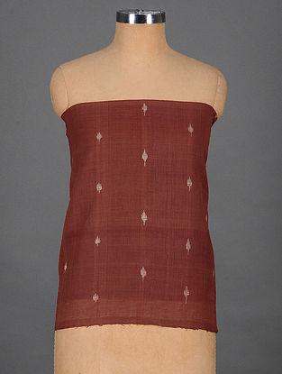 Maroon Handwoven Jamdani Cotton Blouse Fabric