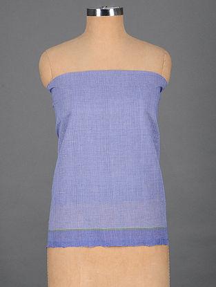 Blue Handwoven Cotton Blouse Fabric