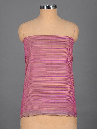 Purple-Beige Handwoven Cotton Blouse Fabric
