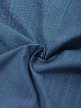 Blue Shaded Handloom Cotton Fabric