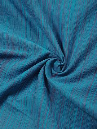 Blue-Pink Shaded Handloom Fabric