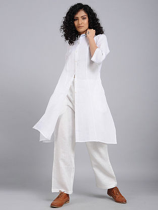 Ivory Hand-Embroidered Linen Tunic