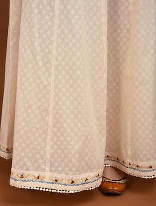 Kora Hand Embroidered Cotton Jacquard Skirt