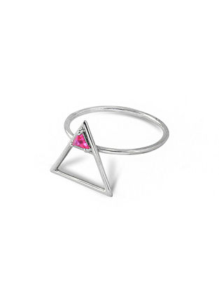 Pink Silver Ring (Ring Size: 13.5)