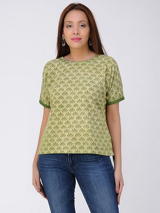 Green Dabu-Printed Cotton Kurta
