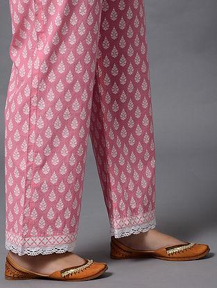 Pink Khari Print Cotton Palazzo