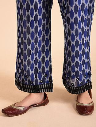 Blue Cotton Ikat Palazzos