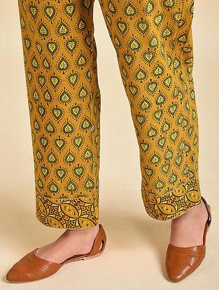 Mustard Ajrakh Cotton Palazzos