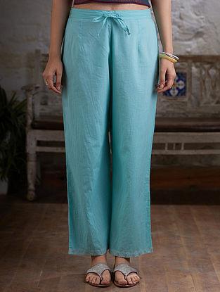 Aqua Cotton Pants
