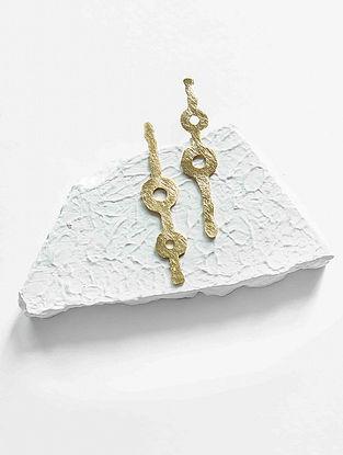 Gold Tone Brass Earrings