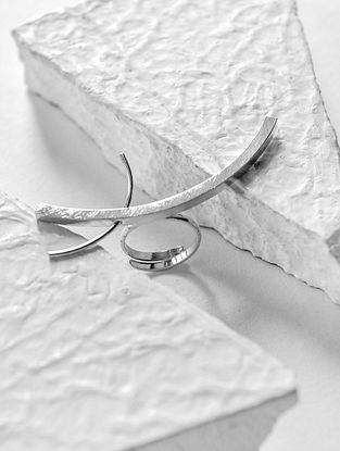 Silver Tone Handcrafted Ring