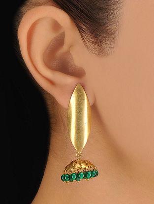 Pair of Leaf Silver Earrings