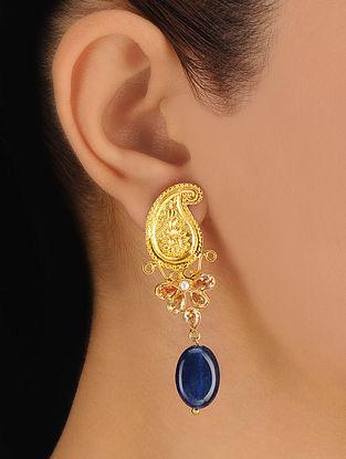 Pair of Paisley Silver Earrings