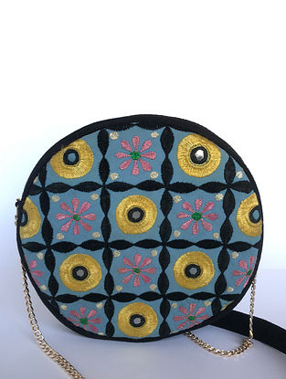 Multicolored Hand Embroidered Sling Bag
