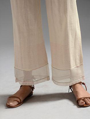 Ivory Handwoven Cotton Chanderi Pants