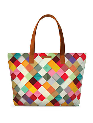 Multicolored Printed Tote Bag