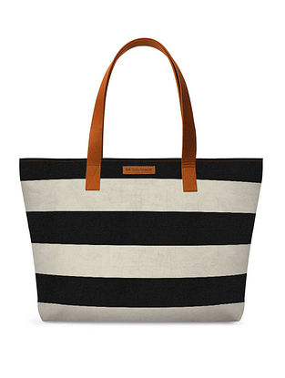 Black Grey Printed Tote Bag
