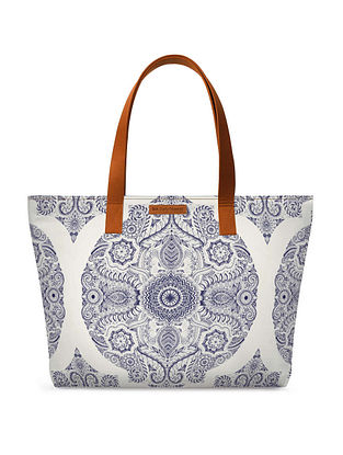 Black White Printed Tote Bag