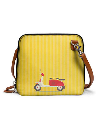 Yellow Printed Sling Bag