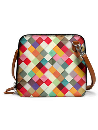 Multicolored Printed Sling Bag