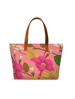 Multicolored Printed Canvas Tote Bag