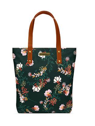 Multicolored Printed Canvas Classic Tote Bag