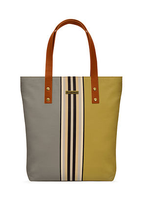 Multicolored Printed Canvas Classic Tote Bag