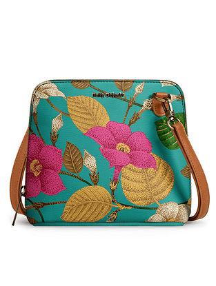 Multicolored Vegan Leather Sling Bag