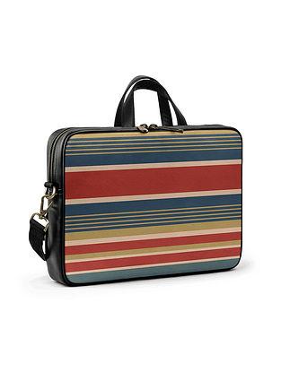 Multcolored Vegan Leather Laptop bag