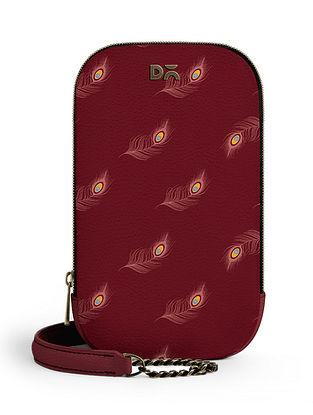 Multicolored Printed Vegan Leather Crossbody Bag