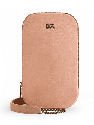 Pink Vegan Leather Crossbody Bag