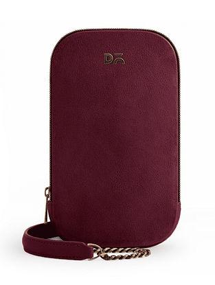 Red Vegan Leather Crossbody Bag