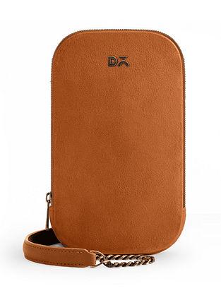 Brown Vegan Leather Crossbody Bag