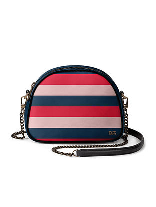 Multicolored Handcrafted Vegan Leather Crossbody Bag