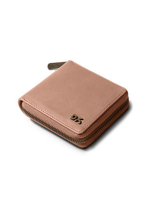 Pink Vegan Leather Wallet