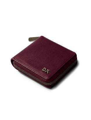 Maroon Vegan Leather Wallet